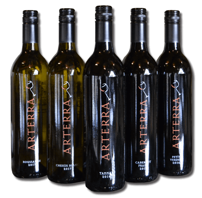 Arterra Wines Virginia Winery clean organic natural Fauquier vineyard bottles
