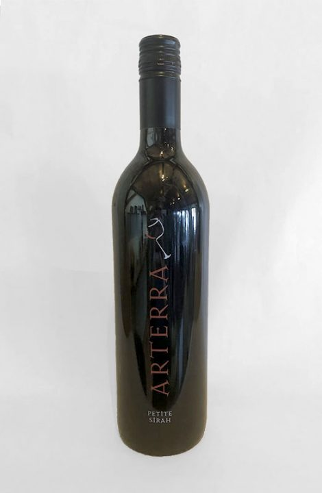 Arterra Petite Sirah wine bottle