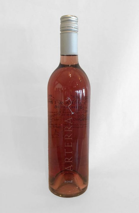 Arterra Rose wine bottle