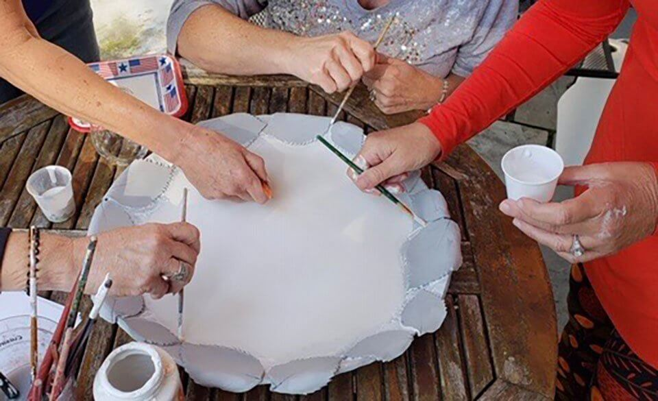 Arterra Art Classes Group Glazing Sculpture